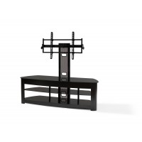 "BEST Wood Home Theater Stand with 42-70"" TV Mount"